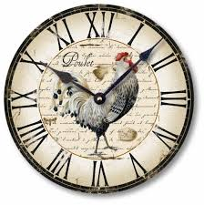 vintage style clock.  Style Amazoncom Item C5006 Vintage Style Country French Chicken Clock 105  Inch Diameter Home U0026 Kitchen For
