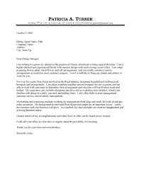 Simple Cover Letter Example Just Basic Cover Letter Examples Florist