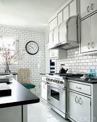 White Kitchens With Tile Floors Decorating Black And White Kitchen Backsplash Tile Home Design