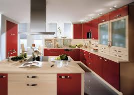 Kitchen Cabinets Red And White Kitchen Modern Model Kitchen Design Ideas White And Green Colors