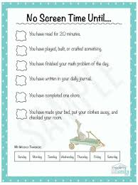No Screen Time Until Perfect For Kids Print This For Free