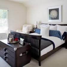Transitional Bedroom With Dark Brown Furniture