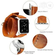 double tour genuine leather apple watch replacement band in surulere accessories for mobile phones tablets ani obinna peter jiji ng for in
