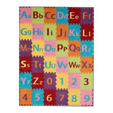 ottomanson children s garden collection alphabet design children kid s play area rug 5 0 x6 6 multicolored ottomanson