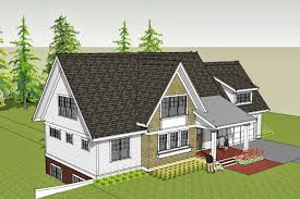 birds eye view ilrating the modern cottage theme the cedar shingle clad front facing gable contrasts against the white clapboard main house