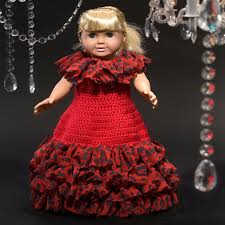 Red Heart Free Patterns Mesmerizing Debutante Doll Dress Red Heart