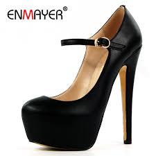 <b>ENMAYER</b> Mary Janes Shoes <b>Woman</b> High Heels <b>Round Toe</b> ...