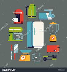Essential Kitchen Appliances Cool Flat Design On Essential Kitchen Stock Vector 308256680