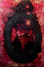 The Very Bad Black Ass Hole Man Painting by Andrea Volterra   Artmajeur