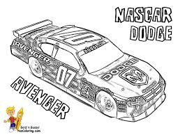Small Picture Full Force Race Car Coloring Pages Free NASCAR Sports Car