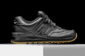 new balance 574 black. almost every brand has given us an \u201call black\u201d or mostly black silhouette for the summer, and up next we have one more from new balance. balance 574 .