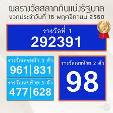 ผลสลากกินแบ่งรัฐบาล งวดวันที่ 16 พ.ย.60 - สำนักข่าวไทย อสมท
