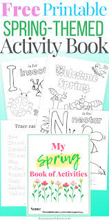 Printable Spring Coloring Pages Activity Book The Purposeful Nest