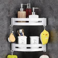 2 pack bathroom corner shelves no