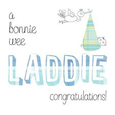 Congratulations On Your Baby Boy Congratulations Of Your Baby Boy Card Laddie Scotlands Bothy
