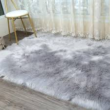 thick rug pads thick plush artificial wool carpet bed bedroom living room windows fur rug pad thick rug pads