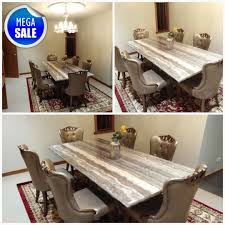 Prince Marble Stone Dining Table With 6 Designed Chairs Www