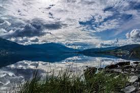 Foto gratis: Lago, orizzontale, acqua, montagna, cloud, neve, natura, mare
