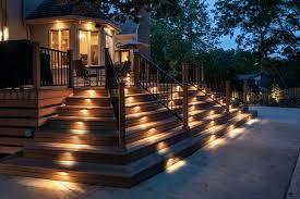 deck stair lighting ideas. ideas deck stair lights lighting babaloo cafe