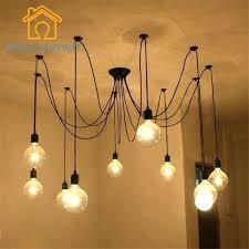 lovable hanging bulb chandelier