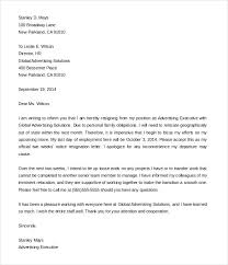 Sample Resignation Letter Format With Notice Period For Teachers ...