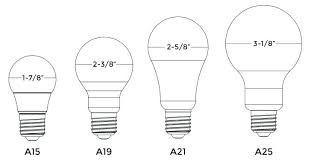 Led Bulb Types Chart Light Bulb Type A19 Cinselcafe Co