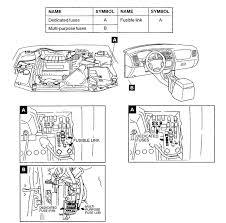 mitsubishi diamante fuse problem where is the fuse box located in attached image