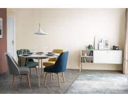Design Esstisch Rund Ausziehbar Weiß Und Holz L120 150 Leena
