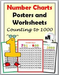 300 Chart Math Number Charts To 1000 Posters Worksheets Number Chart