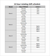excel rotating schedule 12 hour shift schedule template 10 free word excel pdf format