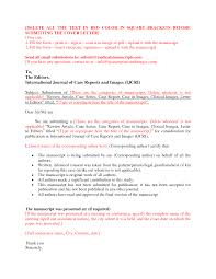 Cover Letter Design How To Write Cover Letter Sample For Manuscript