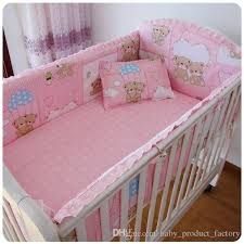 6pcs baby bed pers crib per cute pattern 100 cotton baby bedding sets pers sheet pillow cover