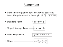 how to calculate y intercept math remember if the linear equation does not have a constant