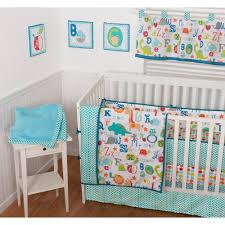 sumersault abc all over 9 piece nursery in a bag crib bedding set with bonus per com