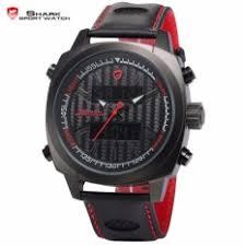 latest watches shark watch products enjoy huge discounts lazada sg shark sport watches black case red men dual date alarm stop quartz leather digital waterproof watch sh493