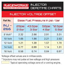 Raceworks Fuel Injectors 900cc Raceworks Short Inj 266