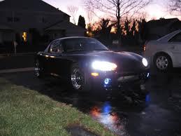 1999 Mazda Miata Fog Light Replacement 1999 2000 Mazda Mx 5 White Halo Fog Lamps Driving Lights Miata Nb Kit