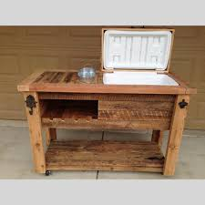 Barnwood Bar barn wood cooler table outdoor bar cart serving station 3459 by guidejewelry.us