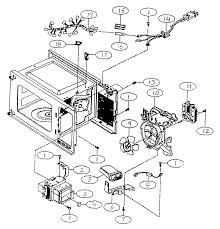 Kenmore model 72161282100 countertop microwave genuine parts