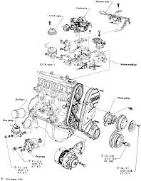 2 exploded view of outer ponents on the intake manifold side e15 and e16 engine