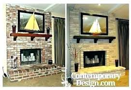 update red brick fireplace red brick fireplace update old has been painted in grey decorating ideas red brick fireplace ideas to cover red brick fireplace