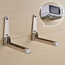 stainless steel microwave oven adjule wall mounted bracket shelf holder u