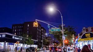energy efficient led streetlights like these on 73rd street