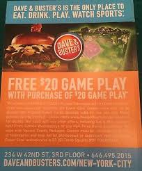 Dave And Busters Prices Chart 50 Dave And Busters D B 20 Gameplay With Same Purchase