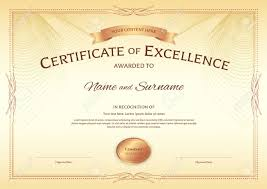 Certificate Of Excellence Template Free Certificate Of Excellence Template With Award Ribbon On Abstract 19