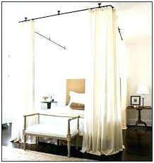 Drapes For Canopy Bed Impressive Curtains For Canopy Bed With ...