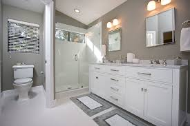 Contemporary Gray & White Bathroom Remodel contemporary-bathroom