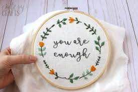 Free Embroidery Designs To Print You Are Enough Free Hand Embroidery Pattern The Polka Dot