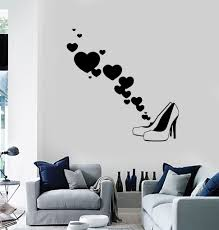 Wall Decor Stickers For Living Room Vinyl Wall Decal Fashion Shoes Shop Style Woman Decor Stickers