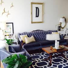 Yellow And Blue Living Room Cool Down Your Design With Blue Velvet Furniture Hgtvs